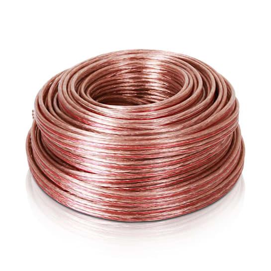 reproduktorový kabel 4 x 2,5 mm², transparentní, 25m