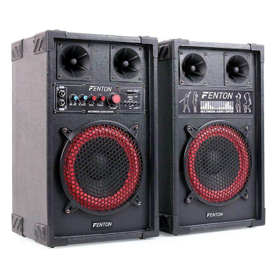 """Skytec SPB-8 Active/Passive 8"""" PA Speakers 400W"""