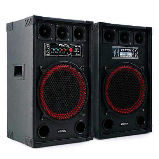 SPB-12 Aktiv Passiv Boxen Set 800W 30cm Woofer USB/SD Bluetooth MP3