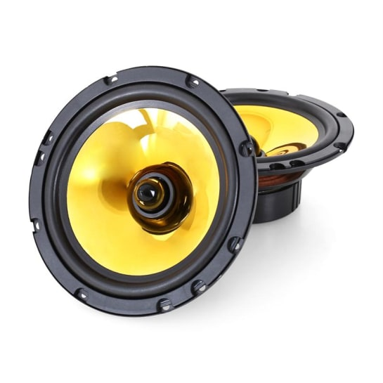 """Pair Auna Goldblaster 6.5"""" Car Audio Speakers 1200W"""