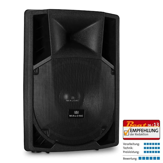 """15"""" Active PA Speaker 2 x Microphone Inputs AUX 1500W"""