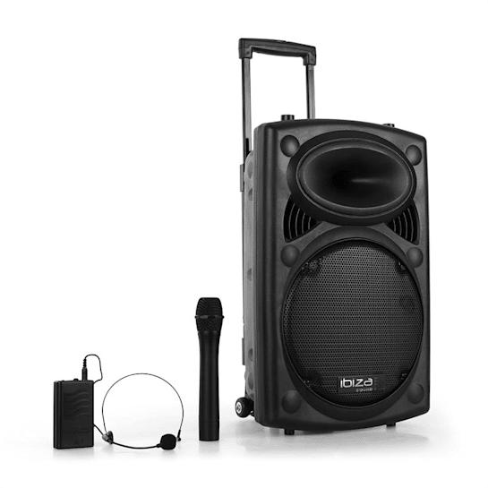 "Port 12 VHF-BT 30cm (12"") Mobile PA-Anlage USB SD AUX MP3 Bluetooth schwarz"