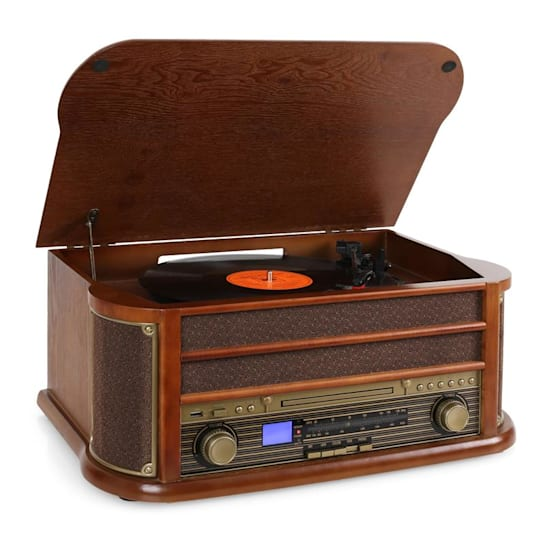 Belle Epoque 1908 Retro Vintage Stereo Turntable Vinyl FM CD MP3 USB