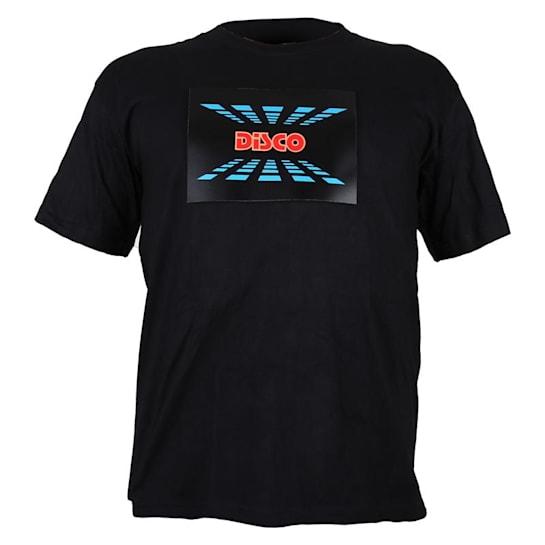 T-Shirt LED 3-Colour Disco Design Size M