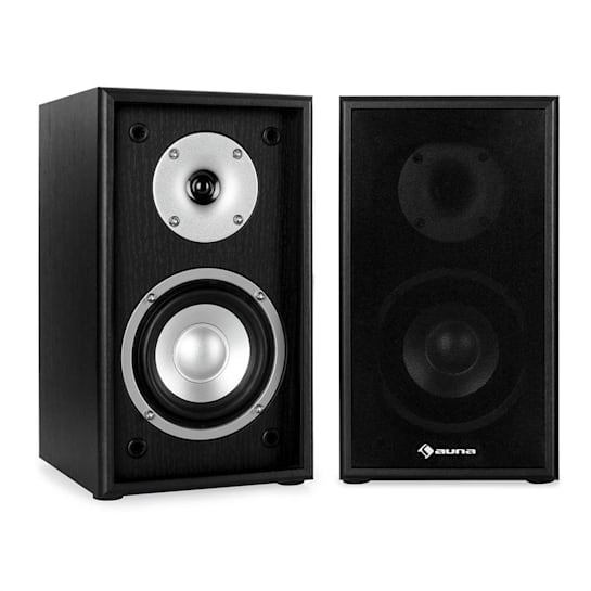 Line 300-SF-BK 2-Way Passive Bookshelf Speakers Pair 150W Black