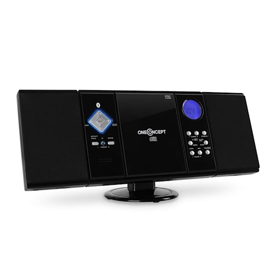 V-12 BT Bluetooth Stereo System FM USB SD AUX Black