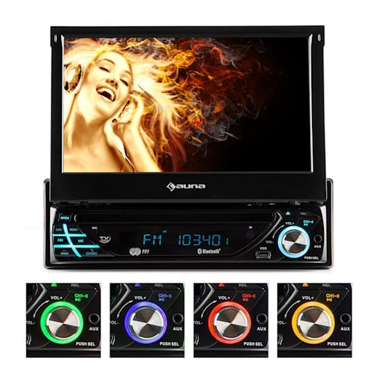 Autorádio Auna MVD-220 , DVD, CD , MP3 , USB , SD , AUX, BT