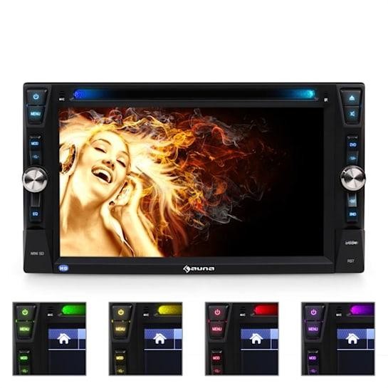 "MVD-481 Moniceiver DVD CD MP3 USB 6,2"" touchskärm bt"