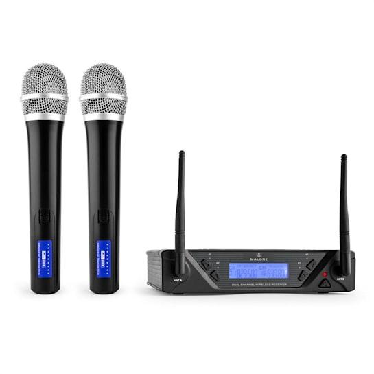 UHF-450 Duo1 2-kanavainen langaton UHF-mikrofonisetti