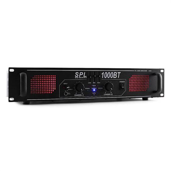 SPL-1000-BT DJ PA-Verstärker 2-Kanal Endstufe 2 x 500W Bluetooth Equalizer