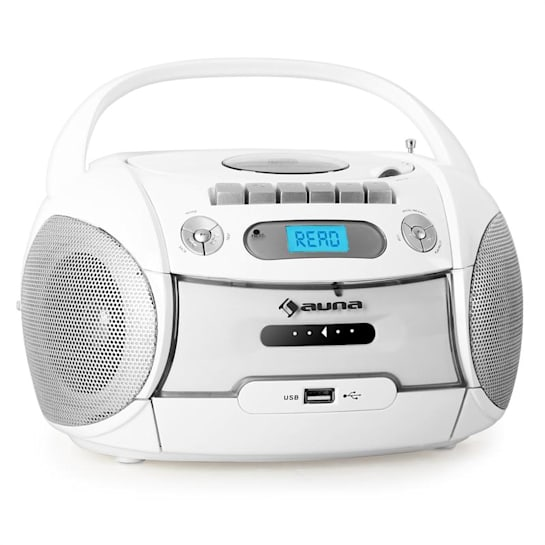 Boomberry tragbarer Kassettenplayer USB MP3 Weiß
