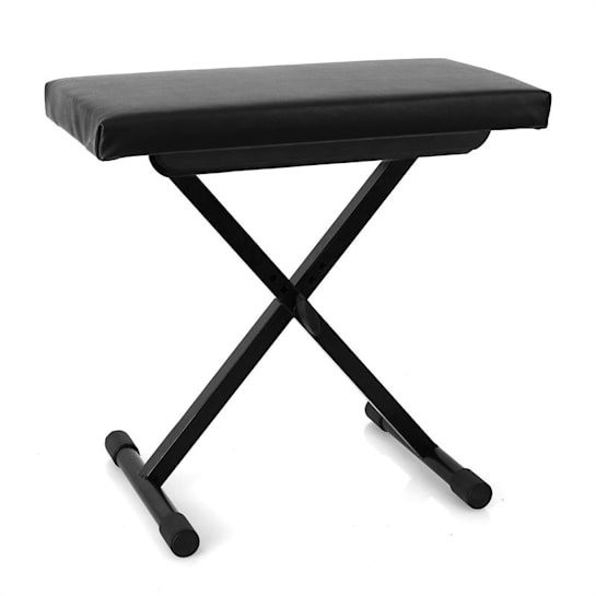 Piano Stool Adjustable Height Black