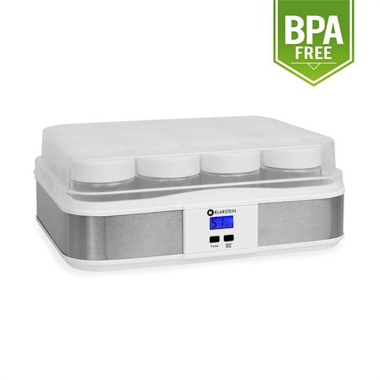 Gaia 12 Jar Yoghurt Maker Digital Display 100% Natural