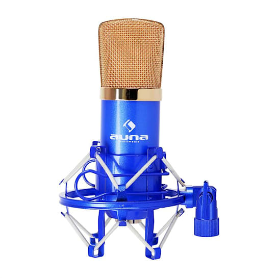 CM001BG Studio-Mikrofon blau/gold Kondensator Gesang Instrumente XLR