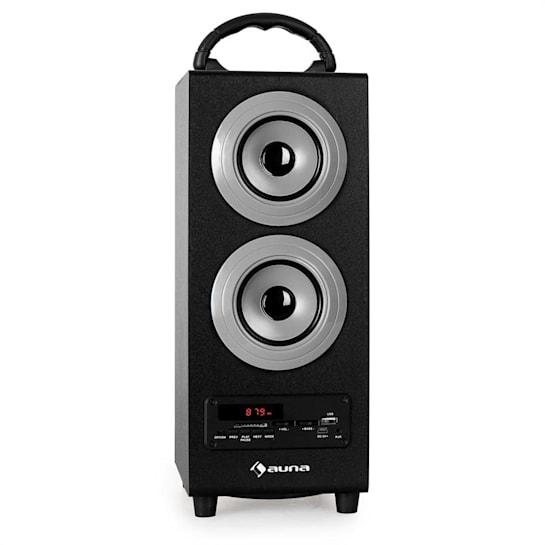 Beachboy Bluetooth-Lautsprecher USB SD AUX UKW/MW silber