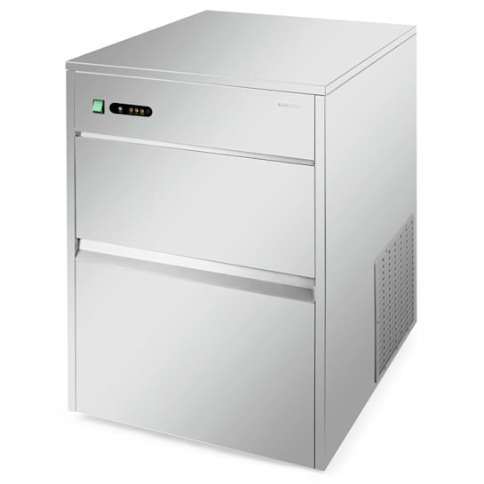 Powericer XXXL Eiswürfelmaschine Industrie | Leistung: 260 W |  Produktionsvolumen 50 kg/Tag | 10 kg Vorratsbehälter | Edelstahl
