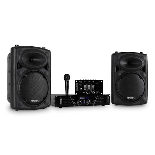 DJ300MK2 diszkó hangrendszer, AUX, MIC