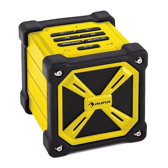TRK-861 Altavoz bluetooth portátil batería exterior amarillo