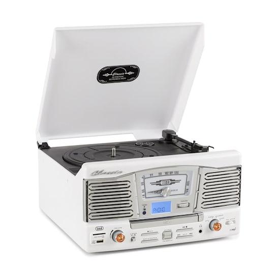 TT 1065 impianto stereo retrò CD USB SD bianco