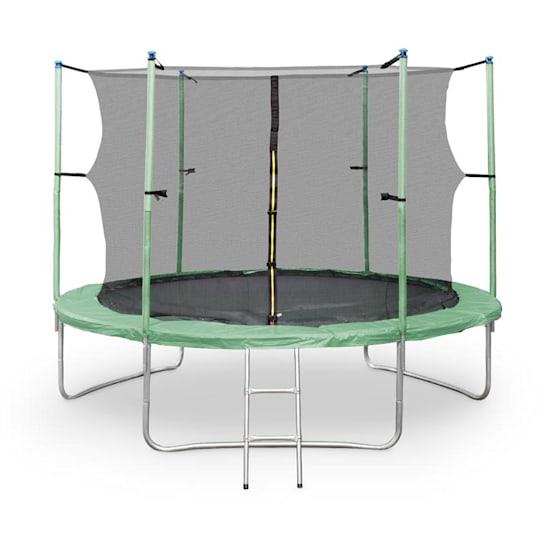 Rocketstar XXL Gartentrampolin mit Sicherheitsnetz & Leiter 305 cm Grün