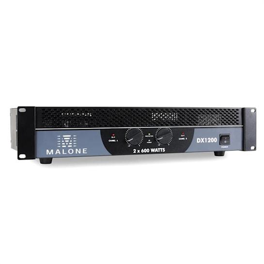 DX1200, 1200 W, přemostitelný, PA zesilovač