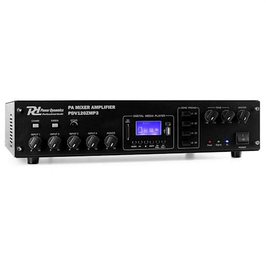 PDV120ZMP3 4-Kanal PA-Verstärker 4-Zonen 120W MP3