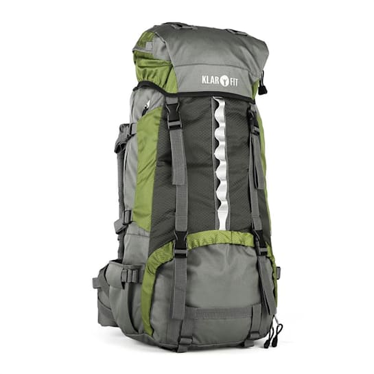 Heyerdahl Trek Backpack Travel Rucksack Green 60+10L