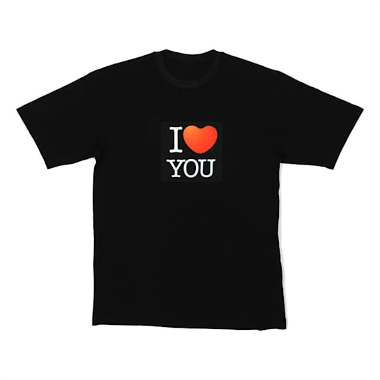 LED Shirt I LOVE YOU Size M