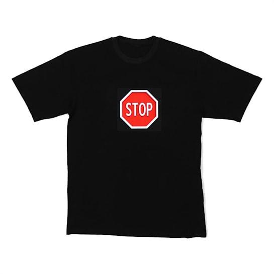LED majica STOP, veličina M