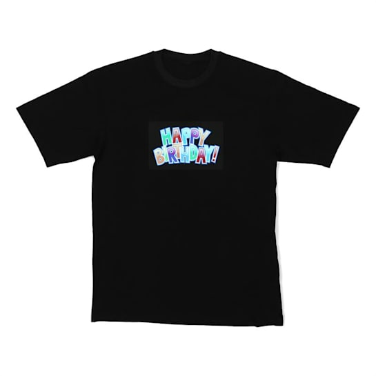 Resident T-Shirt DJ LED Happy Birthday taglia L