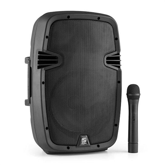 SPJ-PA910 aktiver PA-Lautsprecher Akku Bluetooth USB SD MP3 VHF 400W