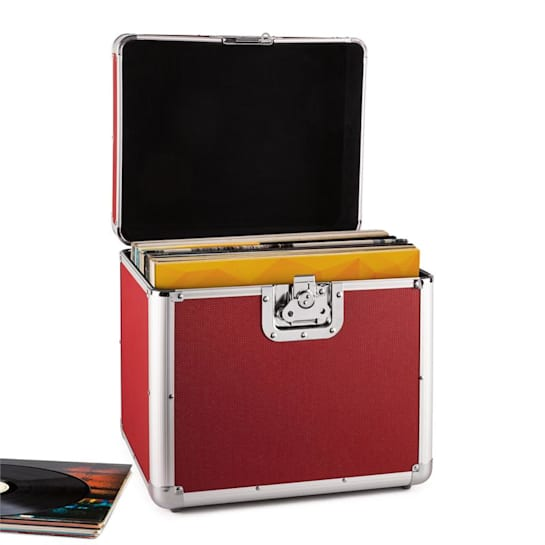 Time Capsule Aluminium 70 Vinyl Transport Case Red