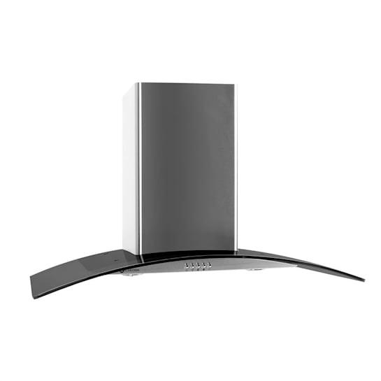 Klarstein GL90WSB kéményes páraelszívó, 90 cm, 490 m3/h, rozsdamentes acél