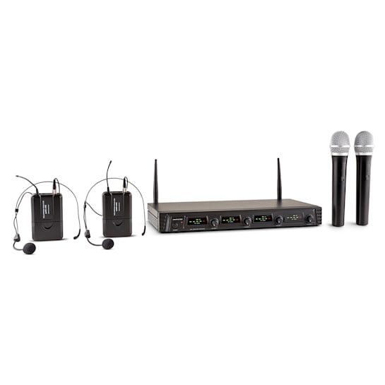 Duett Quartett Fix V2 4-Kanal UHF-Funkmikrofon-Set 50m Reichweite