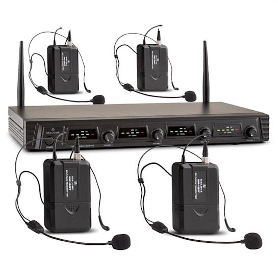 Duett Quartett Fix V3 4-Kanal UHF-Funkmikrofon-Set 50m Reichweite