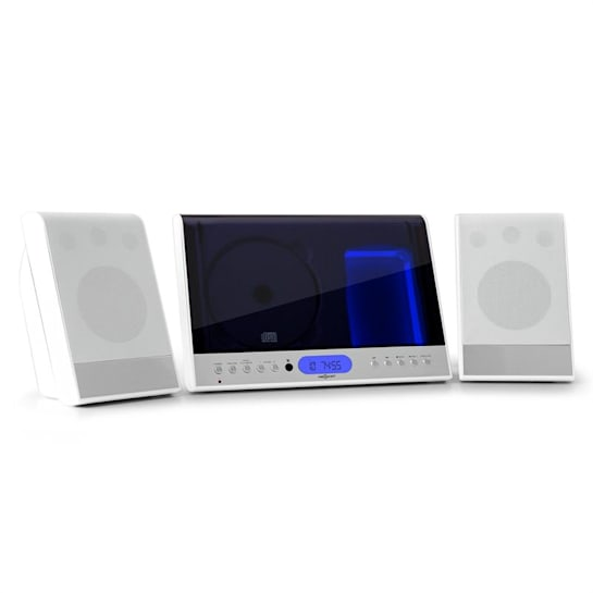 Vertical 90 Stereoanlage CD USB MP3 SD AUX weiß