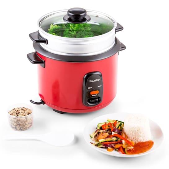 Osaka 1.5 Premium Reiskocher mit Dampfgar-Aufsatz 1,5 Liter