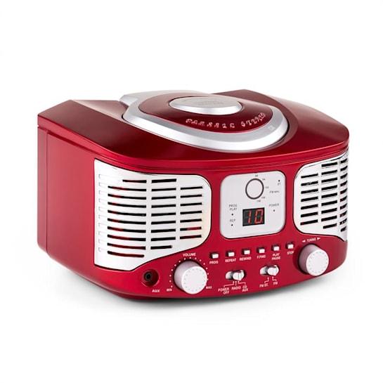 RCD320 Reproductor de CD retro FM AUX Rojo