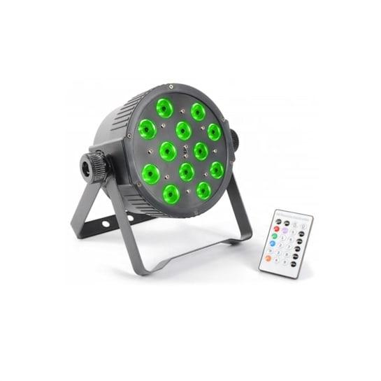 FlatPAR, 12 x 3 W, 5-u-1, 3 color LED, DMX IR, daljinsko upravljanje