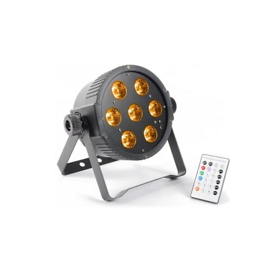 FlarPAR, 7 x 15 W, 5-v-1 RGBAW-LED, DMX IR, vrátane diaľkového ovládania
