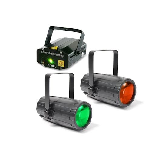 Light Package 2 Disco Set 2 x Macchine Effetti Luce 1 x Laser