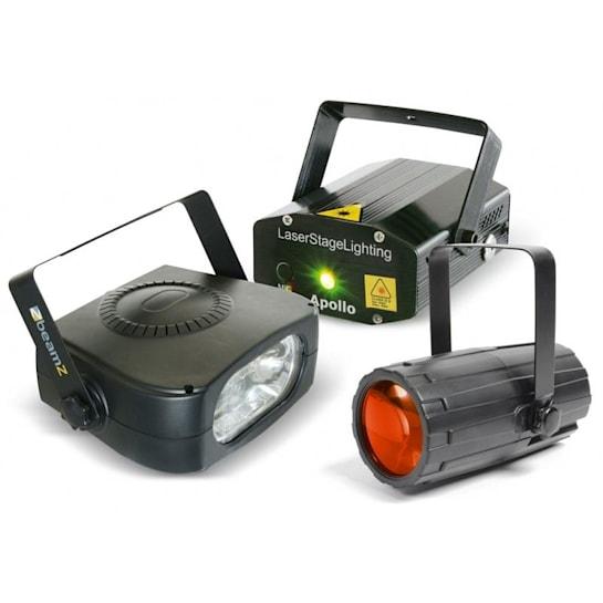 Light Package 4, disco fényhatás készlet, lézer, stroboszkóp