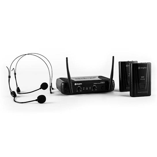 STWM712H Micro VHF Wireless Microphone Set 2 x Headset