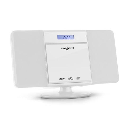 V-13 Aparelhagem Estéreo CD MP3 USB Rádio Despertador Instalação em Parede - branco