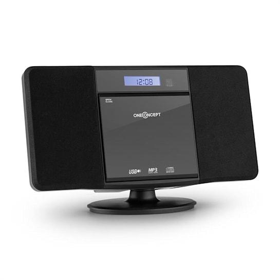 V-13 CD Stereo System MP3 USB Radio Alarm Clock Black