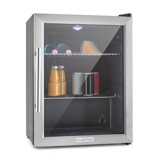 Klarstein Beersafe XL, hladilnik volumna 65 l, energ. klasa B, steklena vrata, nerjaveče jeklo