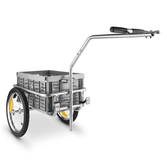 Bigbig Box Rimorchio Per Biciclette Carretto 40 l 40 kg Grigio