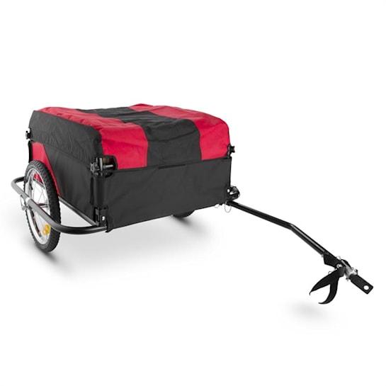 Mountee Bicycle Trailer Load 130l 60kg Steel Tube Black-Red