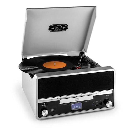 RTT 1922 retrostereot MP3 CD USB FM AUX tallennustoiminto