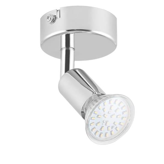 Kvalfoss 1 Spotlampa LED 3W 250 lm roterbar svängbar Krom Kl. A+